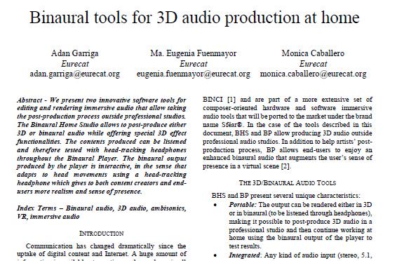 BINCI Award Paper NEM Binaural Tools